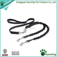 Double Dog Bungee Leash with Comfortable Soft Grip Rubber Handle,Reflective Stitching Leash