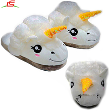 new design cute indoor shoes plush unicorn slipper