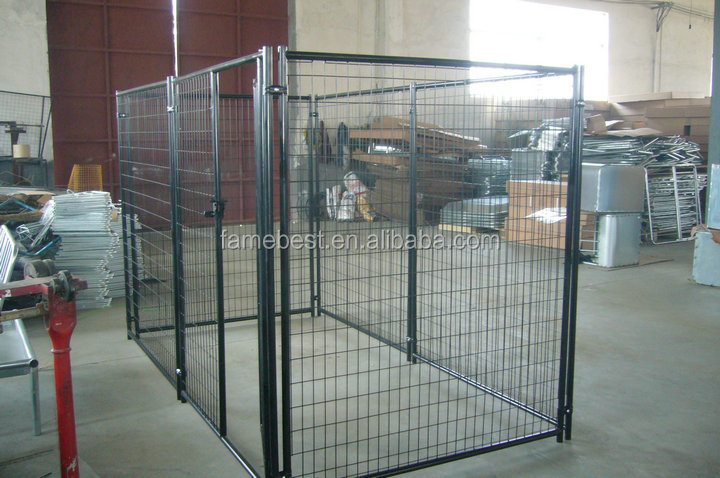 temporary galvanised fence 5'x10'x6' dog kennels with roof