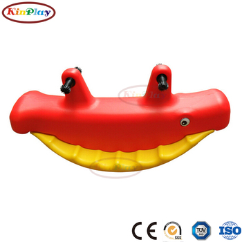 KINPLAY brand customize outdoor plastic rocking horse/Baby whale rocking horse rider