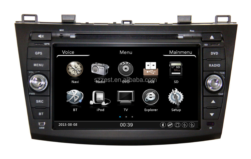 8 inch HD touch screen 2010-2013 in car video with bluetooth digital TV, for mazda 3/