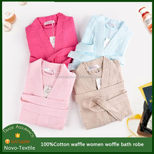 China supplier 100% Lightweight Absorbent Waffle Weave Bath Robe