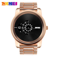 Black watches accept customized mens wrist watches Big face watch with gift box