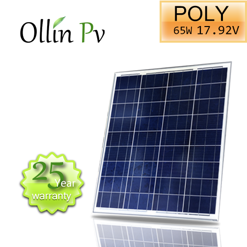 Competitive price from Ollin Solar panel 65W Poly PV Panel