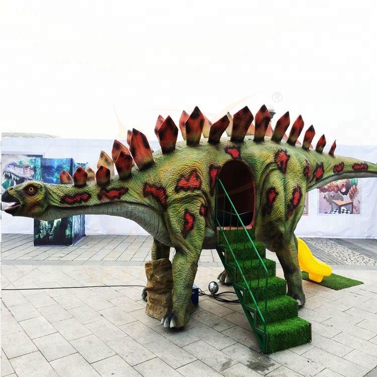 Kids Anti-skid dinosaur themed kids outdoor playground combined <strong>slide</strong>