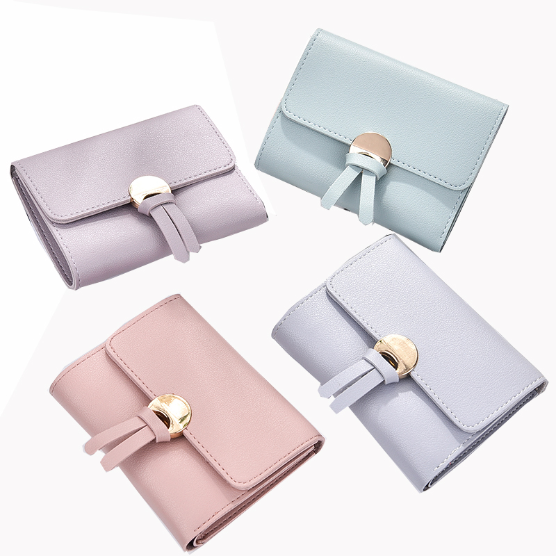 Fashion Women Short Wallets Ladies Vintage Small Wallet Women Roomy Female Coin Purse Girl Wallet Purse