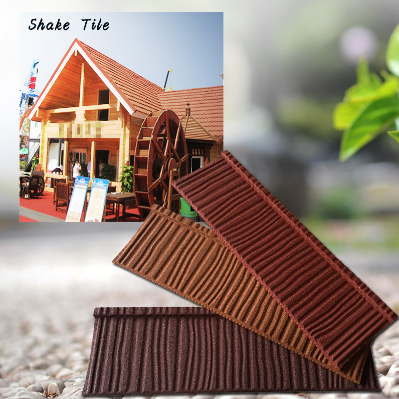 China golden supplier colorful stone metal roof tile in competitive price sold to philippines