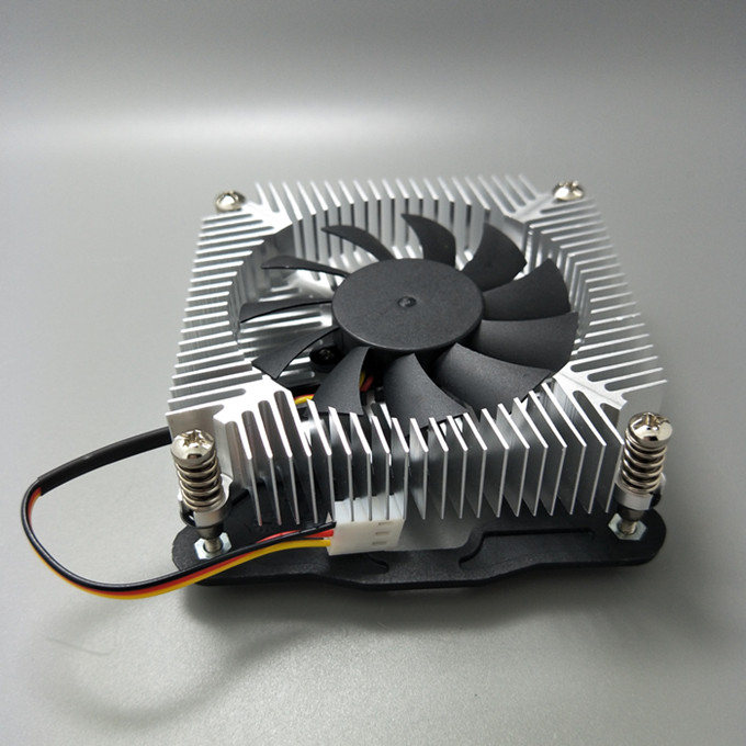2017 new products aluminum heatsink 70mm cpu cooler fan for i3/i5 Intel 1156/1150/1155 platform