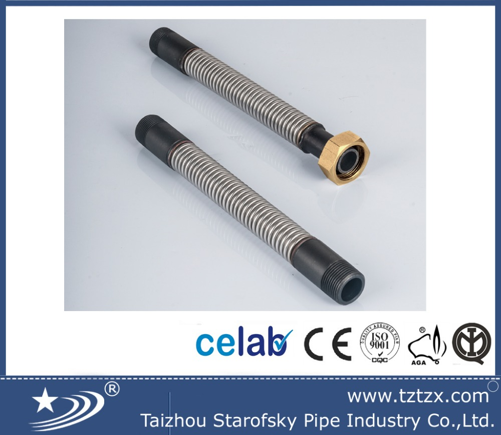 316L COUNTER FLEXIBLE GAS HOSE WITH CARBON STEEL CONNECTION