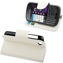 High quality Horizontal Flip Leather Case for BlackBerry Q10 ,Mobile phone case with Holder & Credit Card Slots
