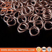 0% 2% 5% Silver copper phosphorus brazing ring welding ring