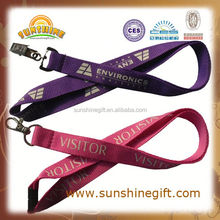 promotional round cord woven neck lanyard safety gave away connection