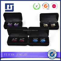 Hot Sale Square Fashion Cufflink Box Tie Clip Jewelry Box Wedding Gifts Free Shipping