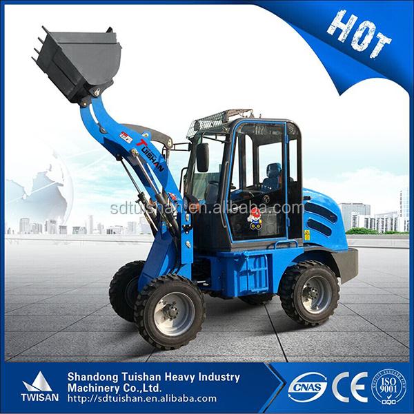 800KG mini front end loader with comfortable cab and 25kw diesel engine