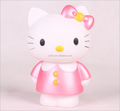 OEM plastic factory make custom vinyl toy/custom durable cute pink cat piggy bank for kids save money