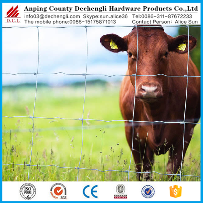 8ft galvanized hinge joint cattle/horse/sheep fence