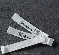 OEM woven label maker private printed Tshirt neck cotton labels manufacturers