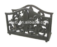 decorative cast iron napkin holder