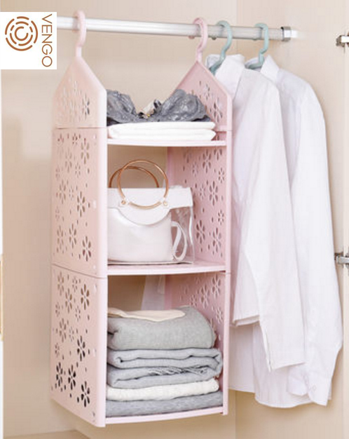China Supplier Plastic Hanging Shelves Closet With 3 Layers Hanging Mesh  Pockets Storage Hanging Closet Organizer   Buy Plastic Hanging Shelves, Hanging Mesh ...