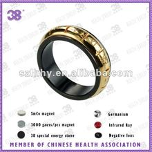 black tungsten jewelrys ring gold plated