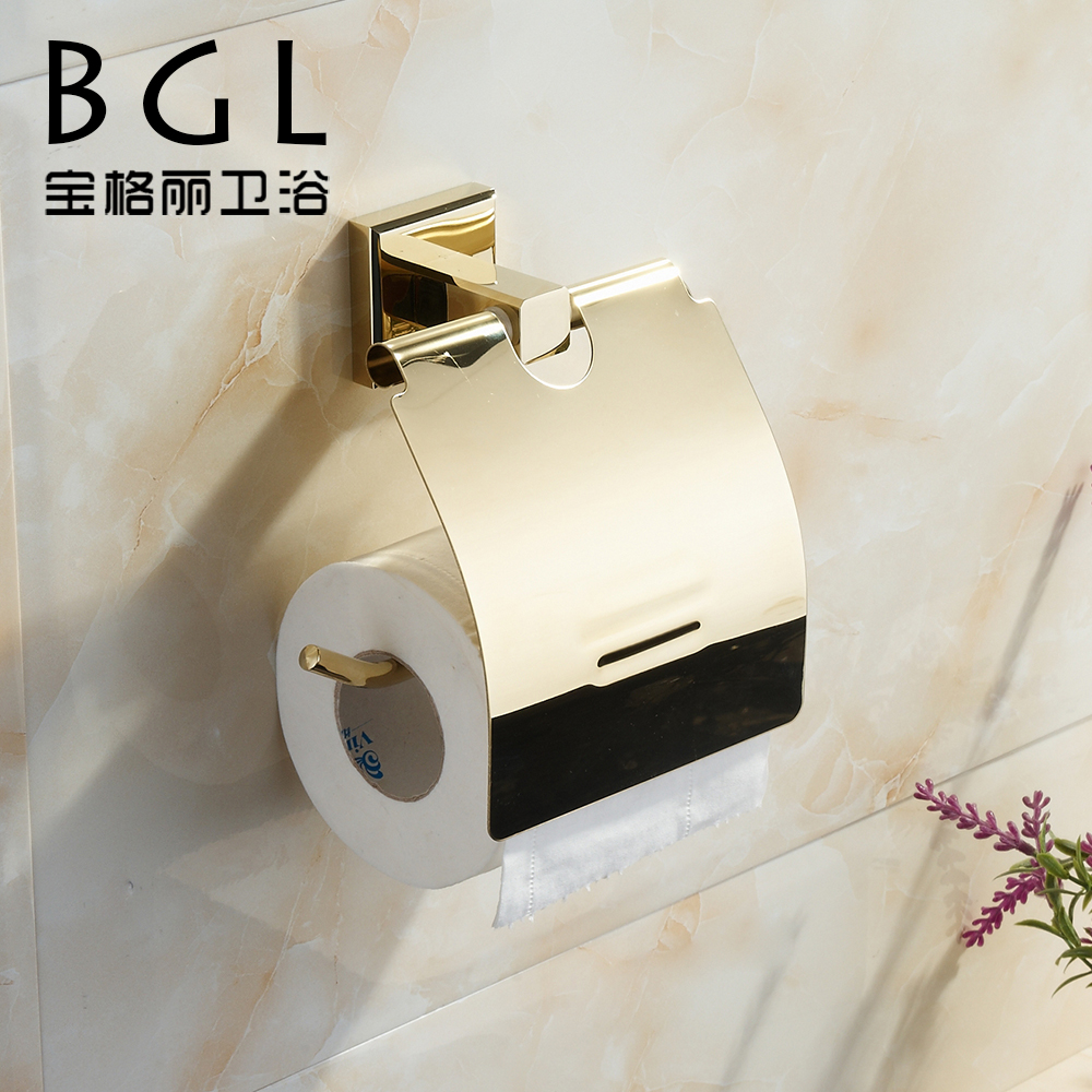 80233 factory new fashion gold toilet paper holder brass bathroom accessories