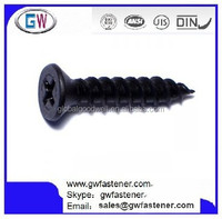 Phillips Flat TwinFast Wood Screw Black Phosphate