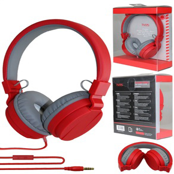 noise cancelling wired stereo headphone with microphone