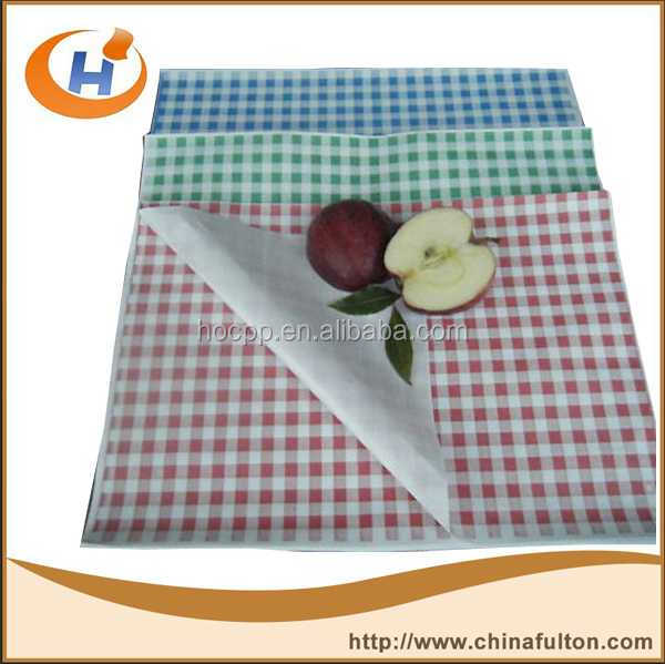 Markers and paper Red Plaid Greaseproof paper manufacturer