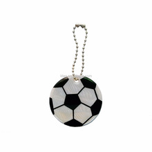 promotional reflective pvc football keychain