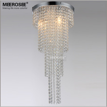 3 Lights Crystal Chandelier Long Size Lustre Light Aisle Porch Hallway Lamp Home Lighting MD12113