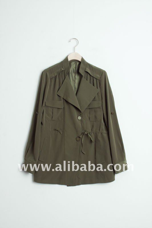 Ruched safari Jacket/Coat_Womens Fall/Winter