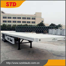 Shenzhen STD 40ft flatbed trailer with container lock