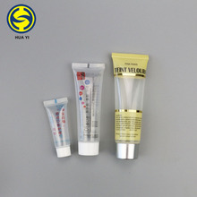 multiple capacity soft plastic cosmetic hand cream packaging tubes