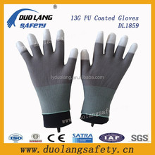 Esd <span class=keywords><strong>guantes</strong></span> recubiertos <span class=keywords><strong>de</strong></span> poliuretano <span class=keywords><strong>base</strong></span> agua fuerte dedo <span class=keywords><strong>guantes</strong></span> pu