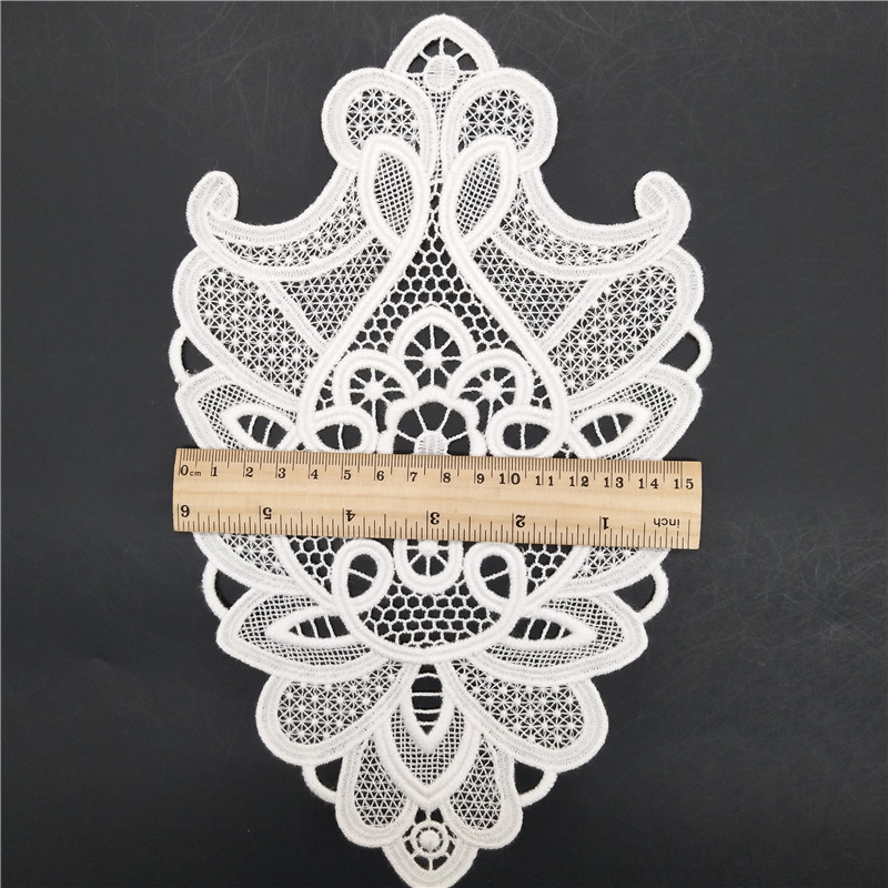 26*16 100% rayon crochet lace applique