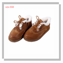 kids 100% cow leather chukka boots for winter