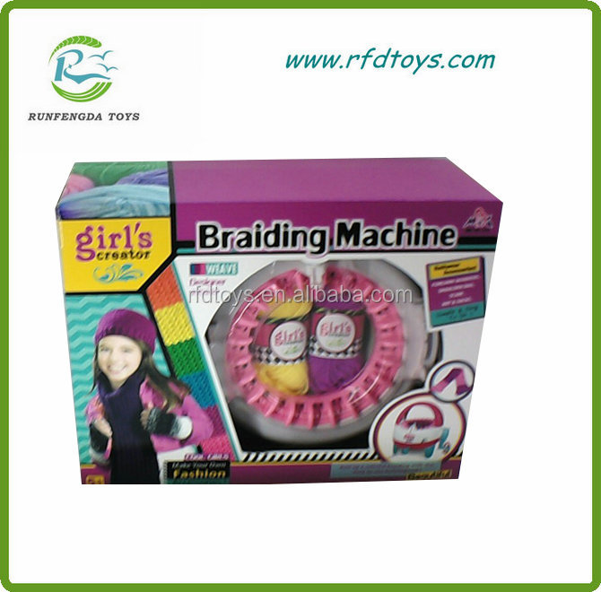 Best girls gift diy educational easy weaving machine toy for kids