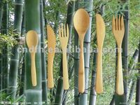 Bamboo knife ,fork ,spoon set (A7) (eco)