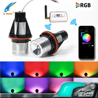 Color changing by mobile phone wifi control E39 5W RGB led marker angel eyes for BMW