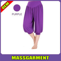 Womens Soft Bamboo Yoga Workout Gym Sports Loose Bloomers Pants