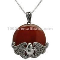 Restore ancient ways gem silver necklace