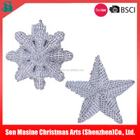 Christmas Ornaments Snowflake/Star/Bell/Gift Box Decorations