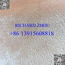 100% polyester pv plush low pile fabric with 5.5mm
