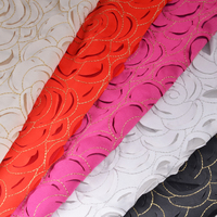 Hot sale floral satin embroidery laser embroidery lace fabric
