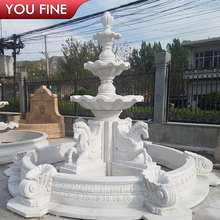 Natural Antique Garden Stone Water Fountain With Octagonal Base