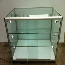 high quality aluminum frame cell phone glass display storage cabinet for retailer