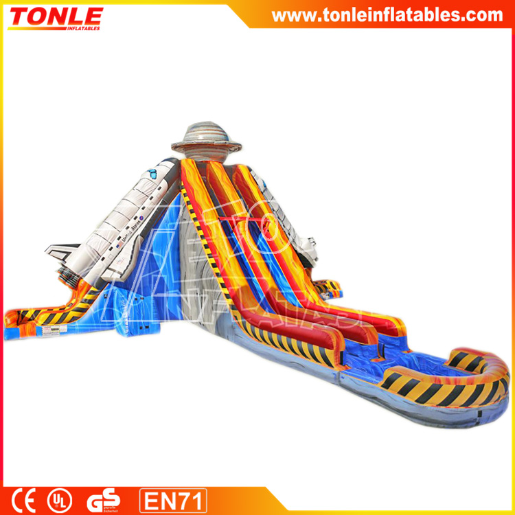 2017 newest inflatable water slide APOLLO LIFT OFF water slide for sale