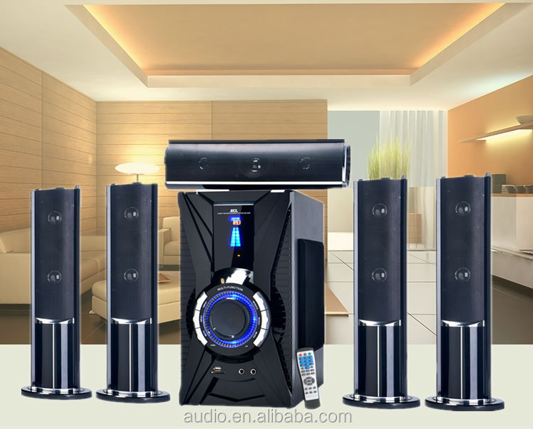 Vibration usb sd subwoofer home theater music system