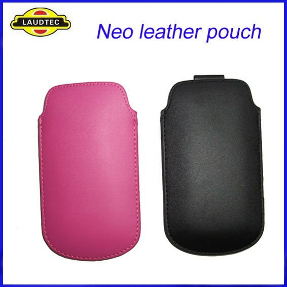 Leather Flip Pouch Case Cover Holster for Sony Ericsson Xperia Neo MT15i