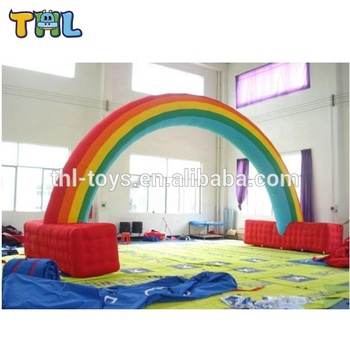 Very popular commercial inflatable color arch door for sale ,used inflatable rainbow arch